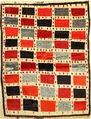 Gabbeh old Rug, Persia, around 1920, wool on wool