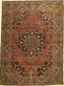 Tabriz Old Rug Persia around 1930 wool on cotton