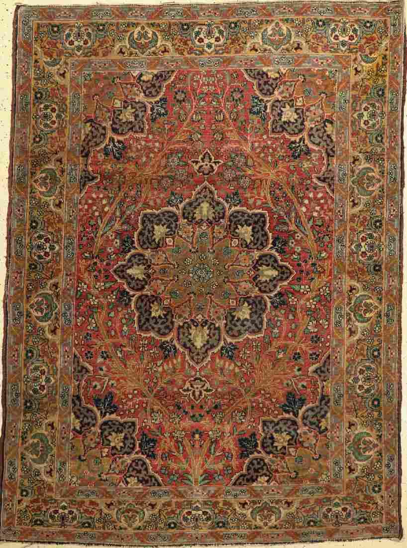 Tabriz Old Rug, Persia, around 1930, wool on cotton