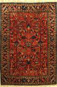 Tefzet old Carpet Germany around 1930 wool on cotton