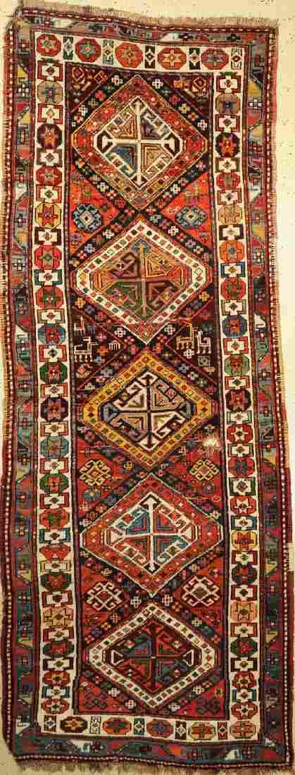 Kasak antique Rug, Caucasus, around 1890, woolon wool