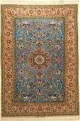 Esfahan fine signed Rug, Persia, approx. 40 years, wool