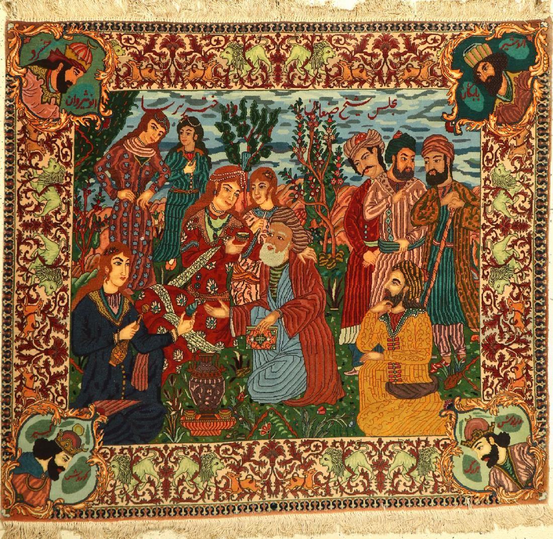 Tabriz fine Rug, Persia, approx. 60 years, wool