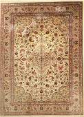 Fine silk Qum Carpet, Persia, approx. 40 years, pure