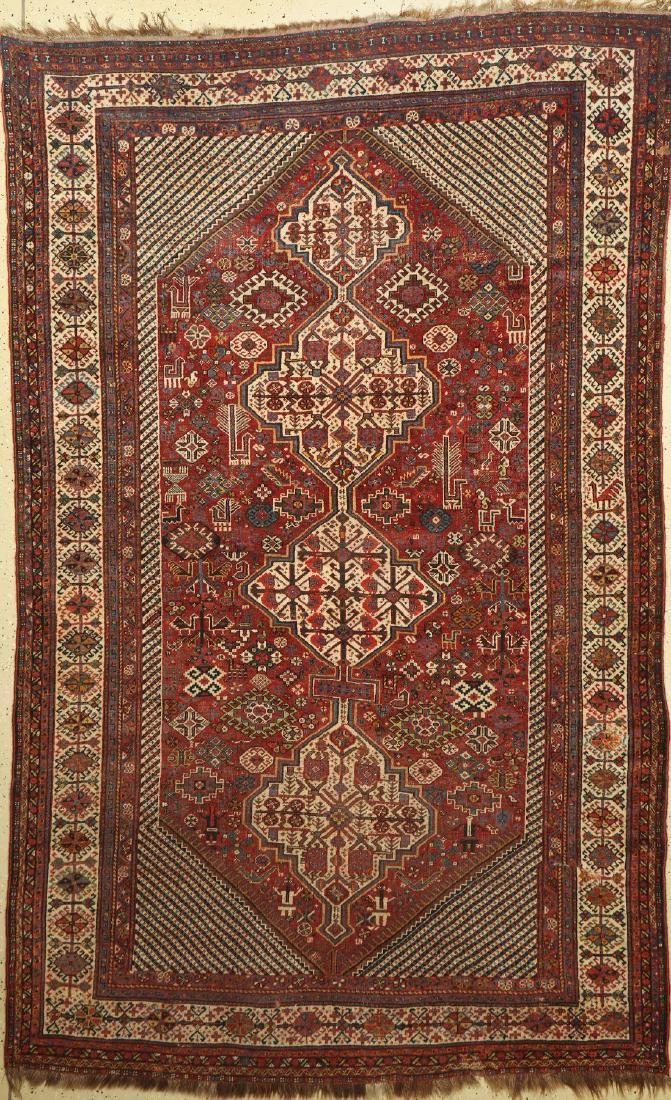 Khamseh antique Rug, Persia, late 19th century