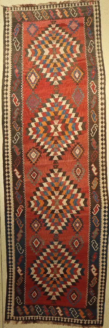 Shahsavan Kilim Runner, Persia, around 1940, wool on