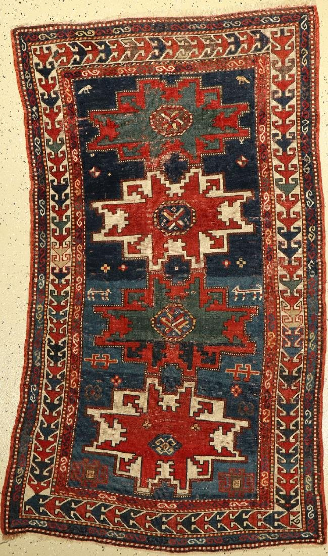 Lesghi Kasak antique Rug, Caucasus, around 1900, wool