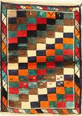 Gaschgai Gabbeh old Rug Persia dated 1379 years wool
