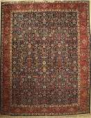 Tabriz old Carpet Persia around 1950 wool on cotton