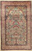 Kirman Laver Rug, Persia, around 1930, wool oncotton