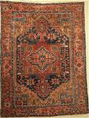 Garadje old Carpet Persia around 1930 wool on cotton