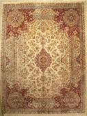 Kerman Lawer old Carpet Persia approx 60 years wool