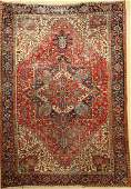 Heriz old Carpet Persia around 1940 wool oncotton