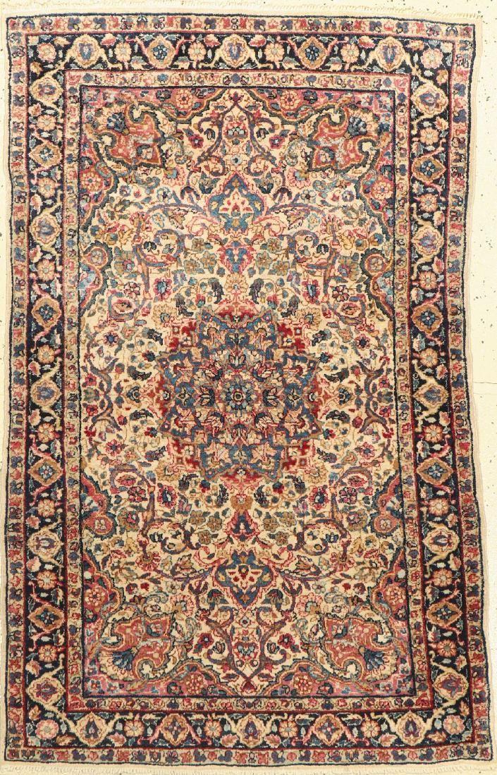Kirman Laver Rug, Persia, around 1930/40, woolon cotton