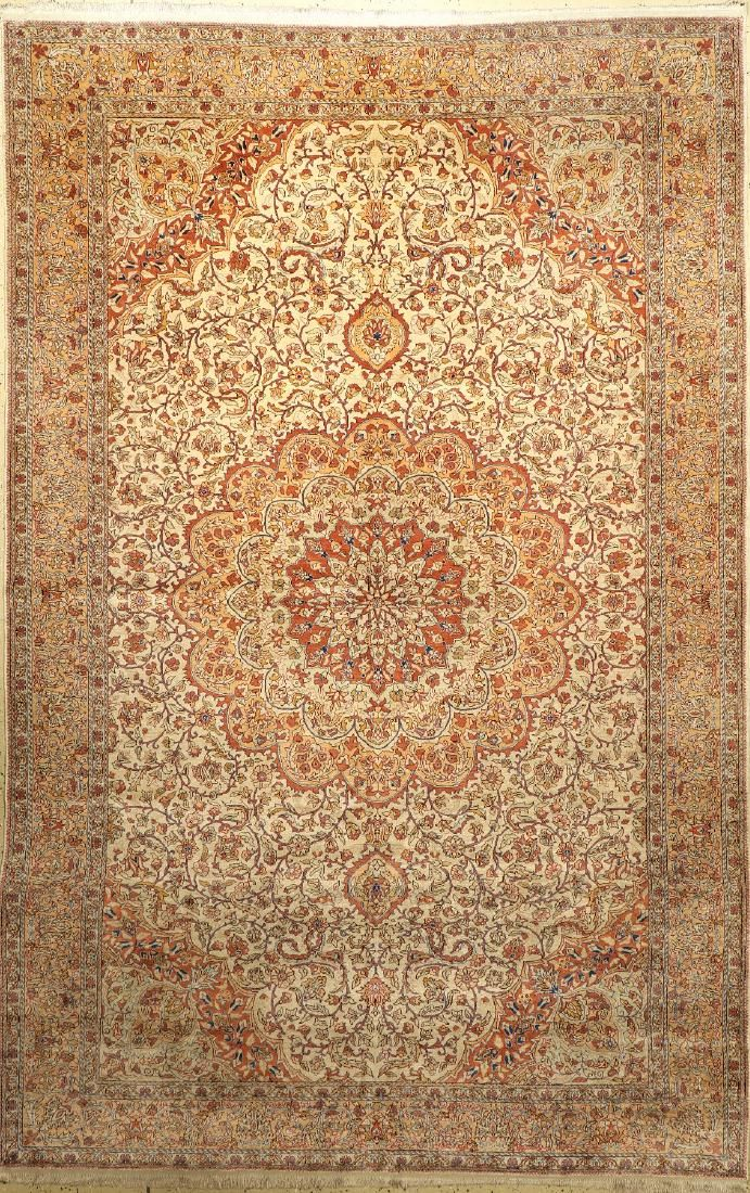 Silk Kaisery old Carpet, Turkey, approx. 50 years, pure
