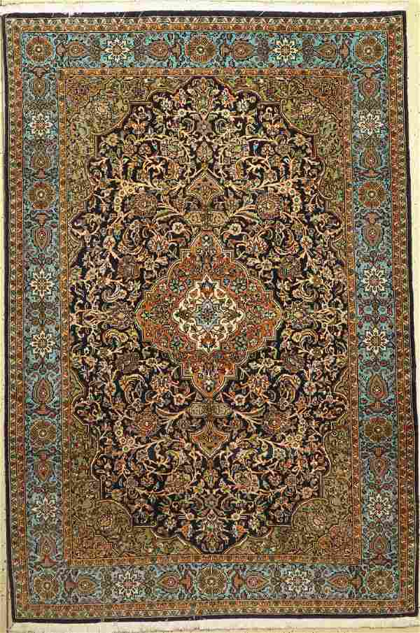 Qum with silk, Persia, c. 40 years, wool with silk
