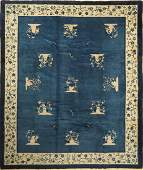 Beijing antique Carpet, China, around 1920, wool on