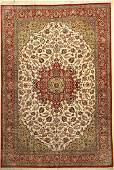 Very fine silk Qum Carpet, Persia, approx. 40 years,