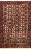 Senneh old Rug Persia around 1930 wool on cotton