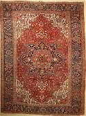 Heriz old Carpet, Persia, around 1950, wool oncotton