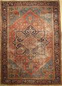 Heriz old Carpet Persia around 1920 wool onwool