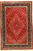 Silk Qum 'Oliai' fine Rug, (Signed), Persia, approx. 40