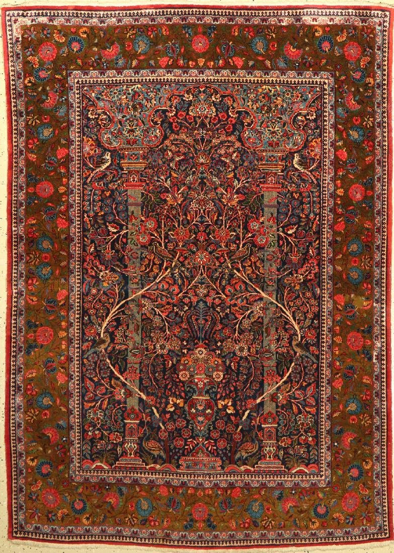 Rare Keschan old Rug (Paradise design), Persia