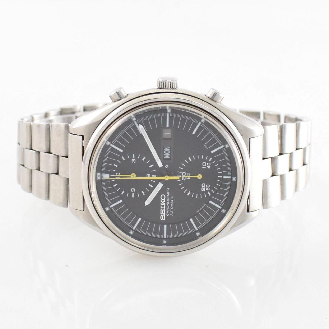 SEIKO gents wristwatch with chronograph in steel