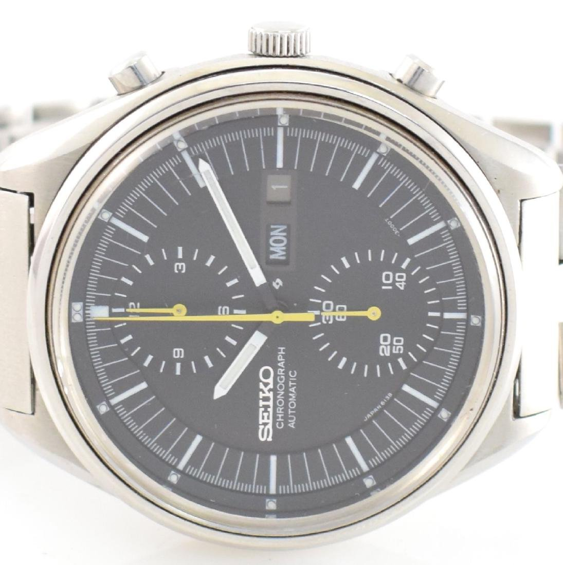 SEIKO gents wristwatch with chronograph in steel - 2