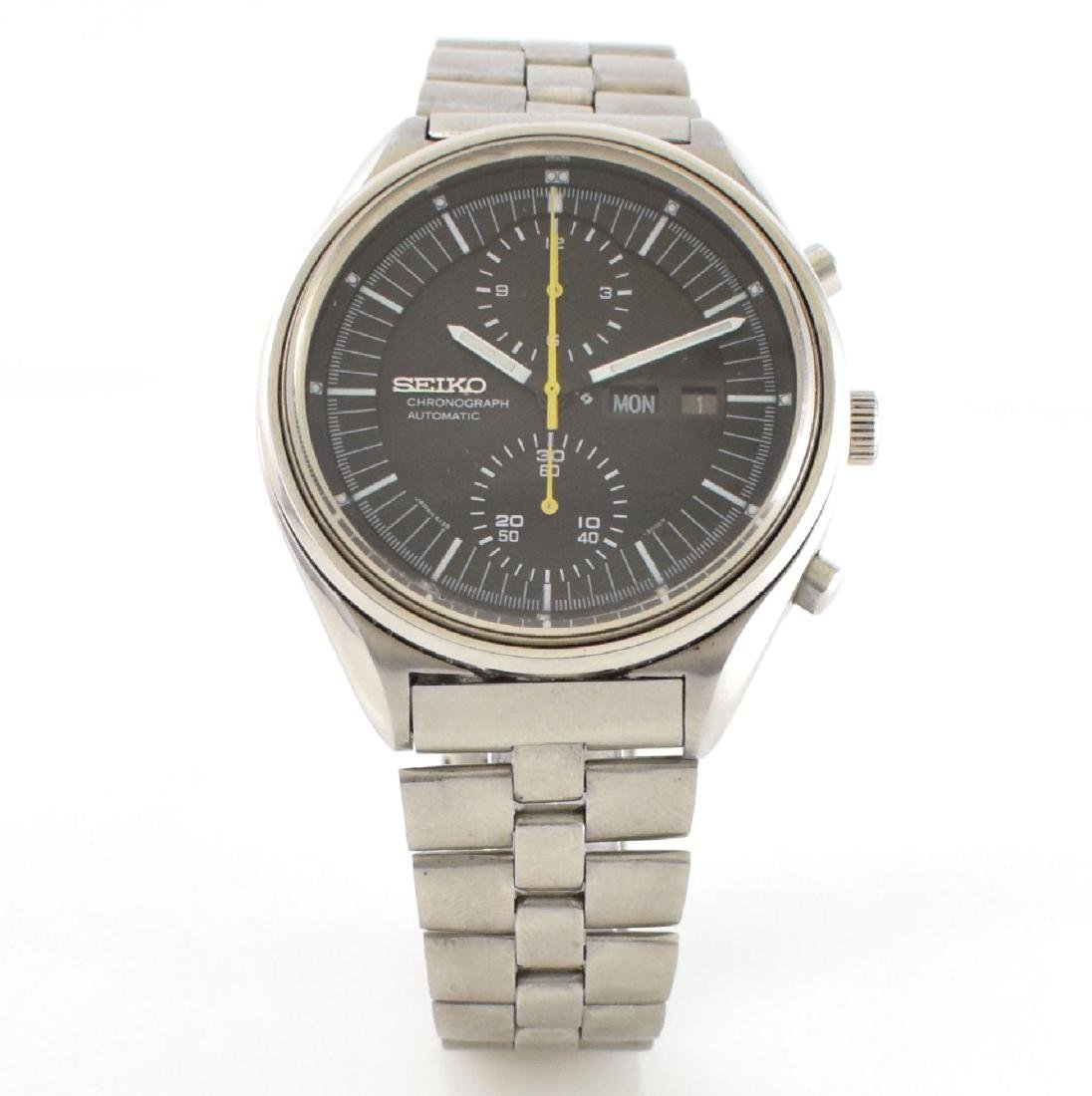 SEIKO gents wristwatch with chronograph in steel - 3