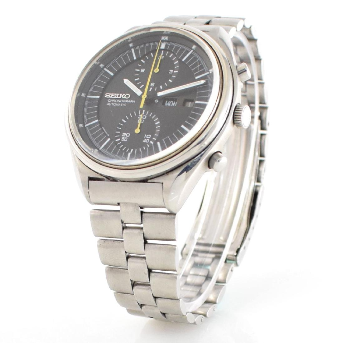 SEIKO gents wristwatch with chronograph in steel - 4
