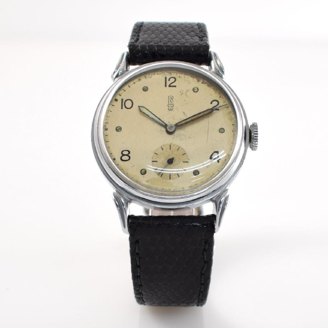 GLASHUTTE rare early gents wristwatch calibre 61 - 3