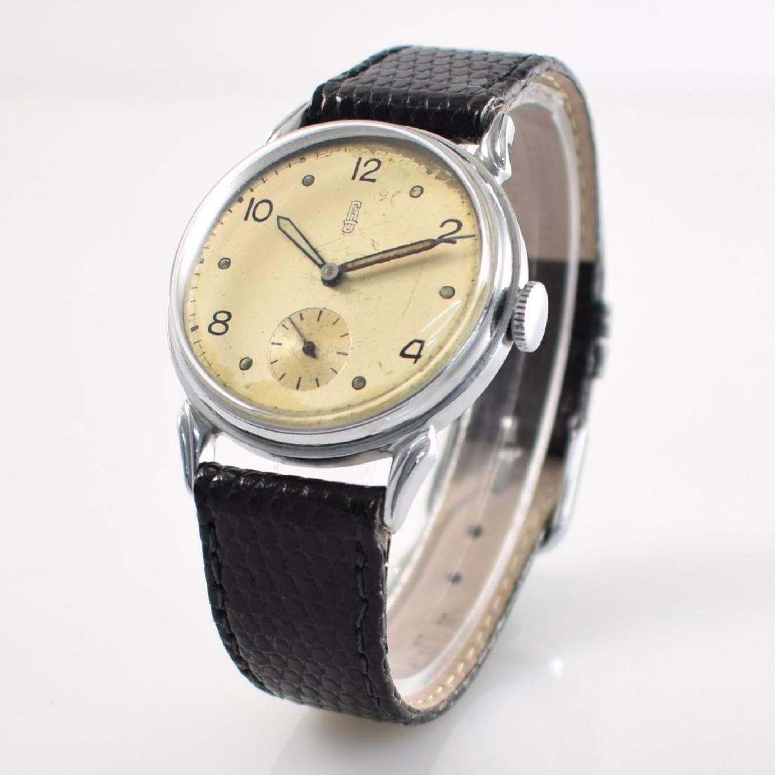 GLASHUTTE rare early gents wristwatch calibre 61 - 4