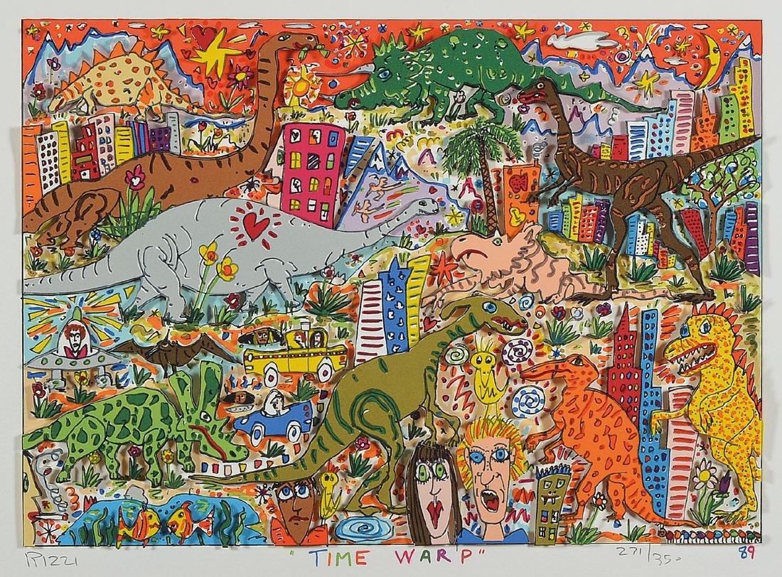 James Rizzi, 1950-2011, Time wrap, 3D-