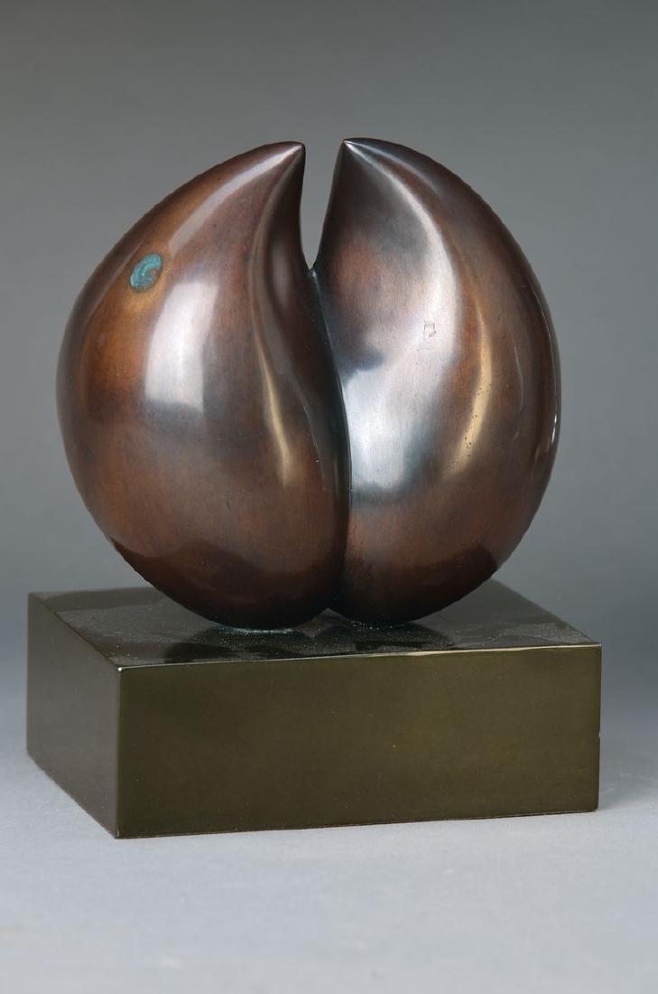 Manuel Bouzo, born 1946, metal sculpture on base