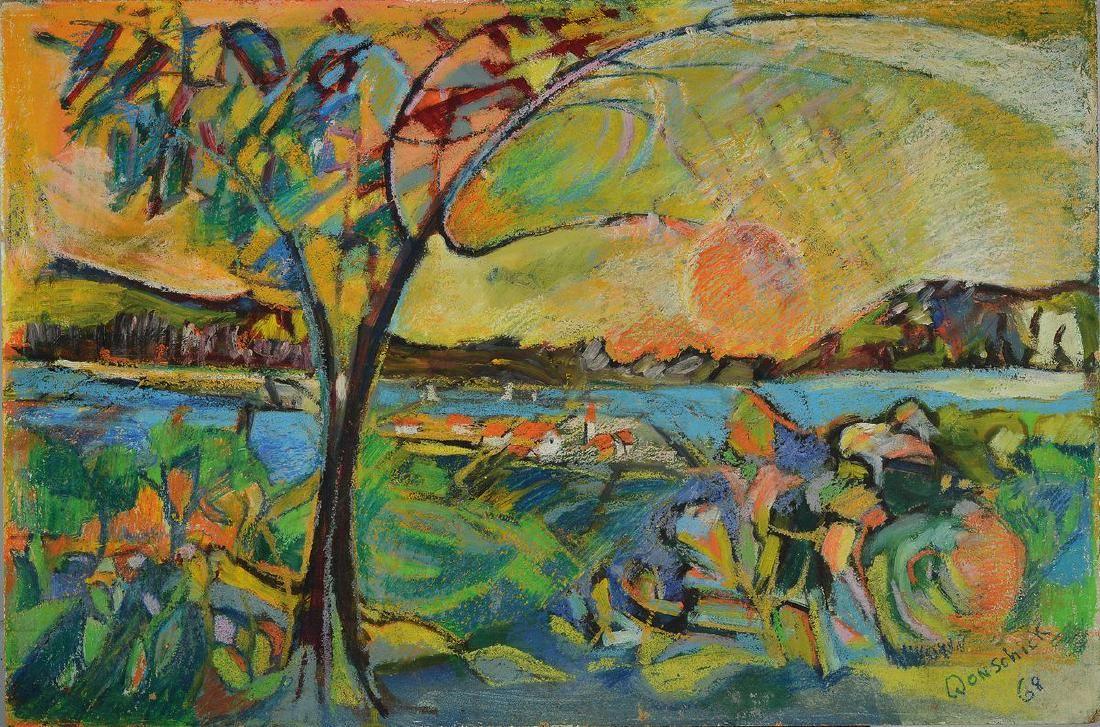 Hans Otto Wonschick, dated 68, colorful landscape
