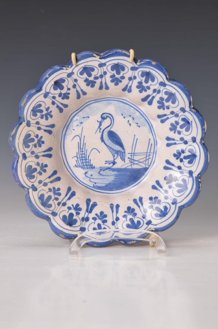 plate, probably Hanau, around 1720-30, faience