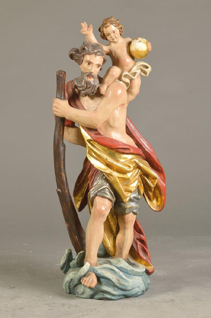 Sculpture of the Saint Christopherus, SouthernGermany