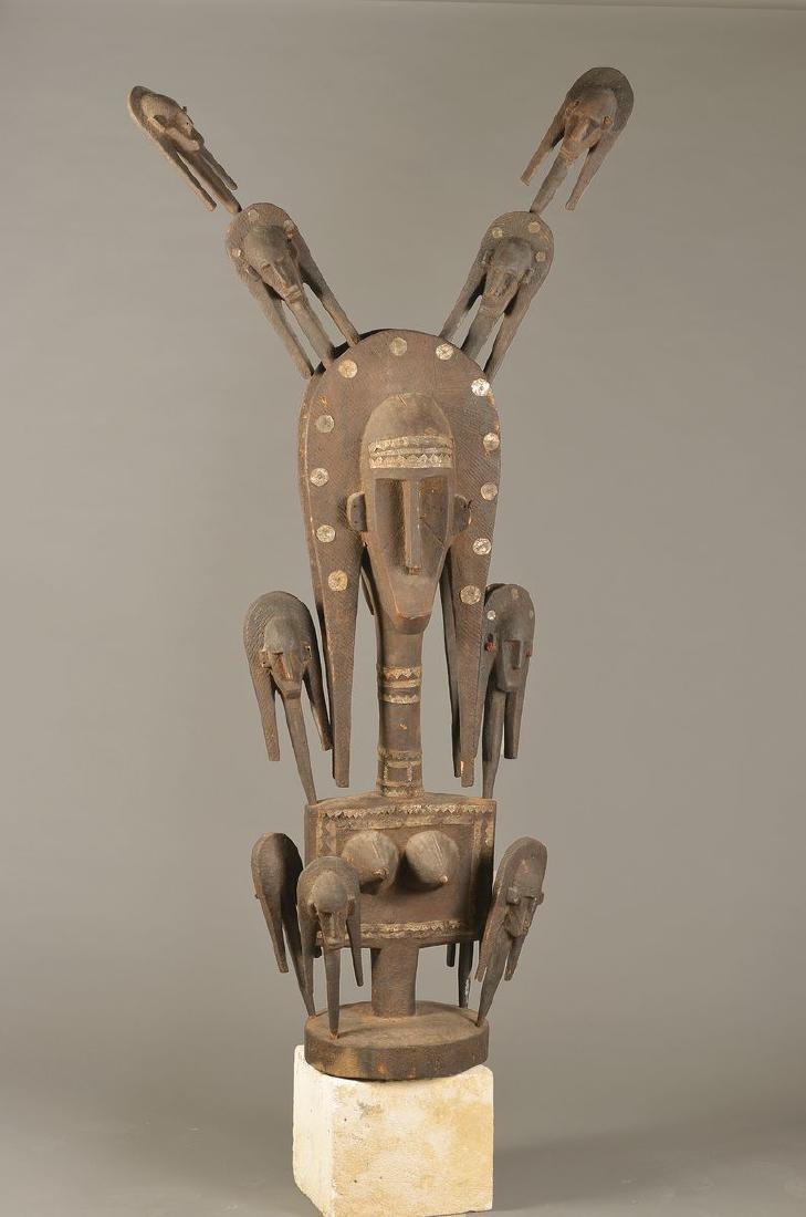 Large dancing mask, Bambara, 1. H.20th c., carved wood