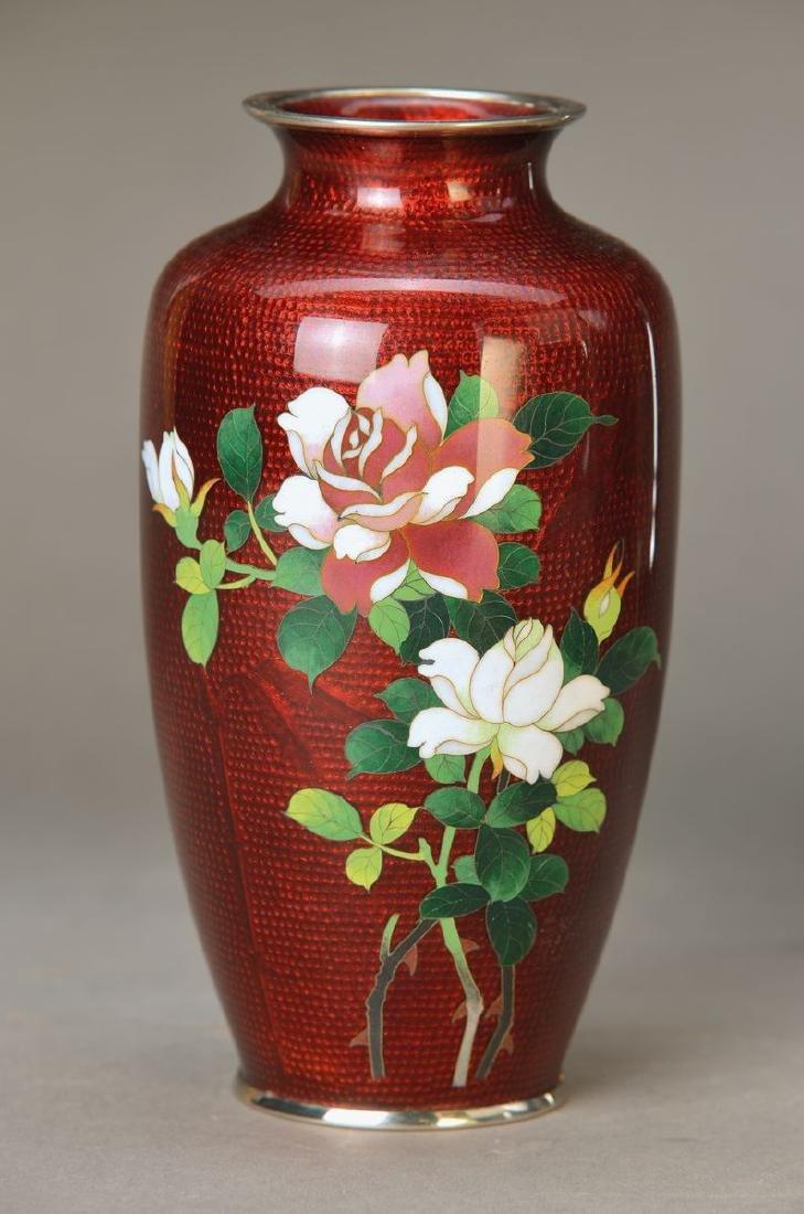 vase, Japan, 1930s, so-called Gingbari, Cloisonne