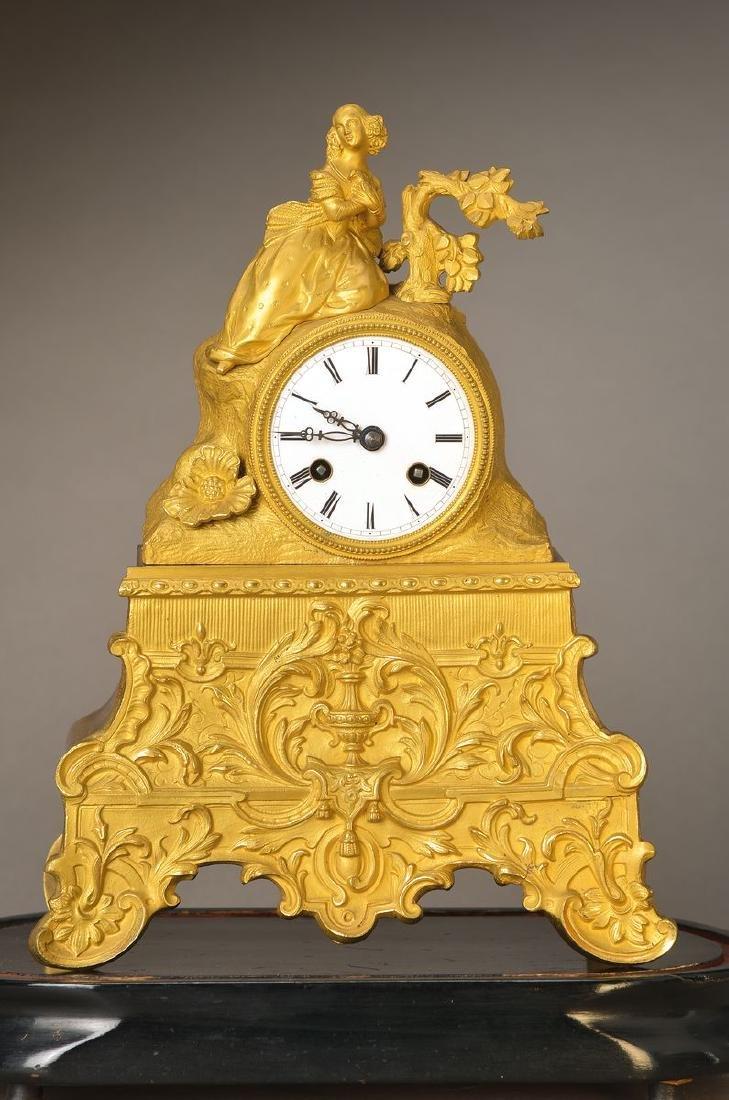 Pendulum, France around 1830/40, decorated bronze