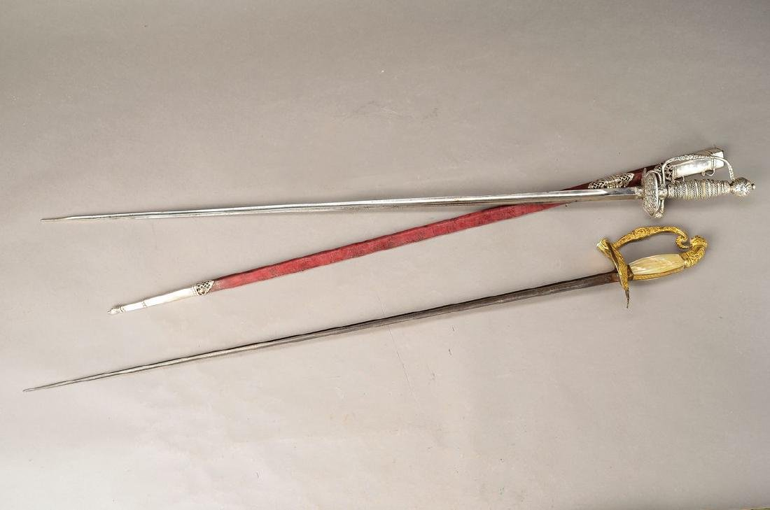 officer's sword, France, around 1900, handle with