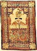 Fine Kirman 'Ravar' Pictorial-Rug (Shah Abbas)