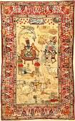 Fine Kirman 'Ravar' Pictorial-Rug (King Solomon),