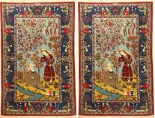 A Pair Of Fine Kurk Kashan 'Mohammad Dabir Sanayeh'