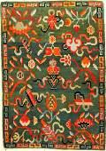 Green Tibetan Shigatse 'Goyul Rug',