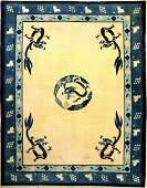 Fine  Unique Beijing Dragon Carpet Qing Dynasty
