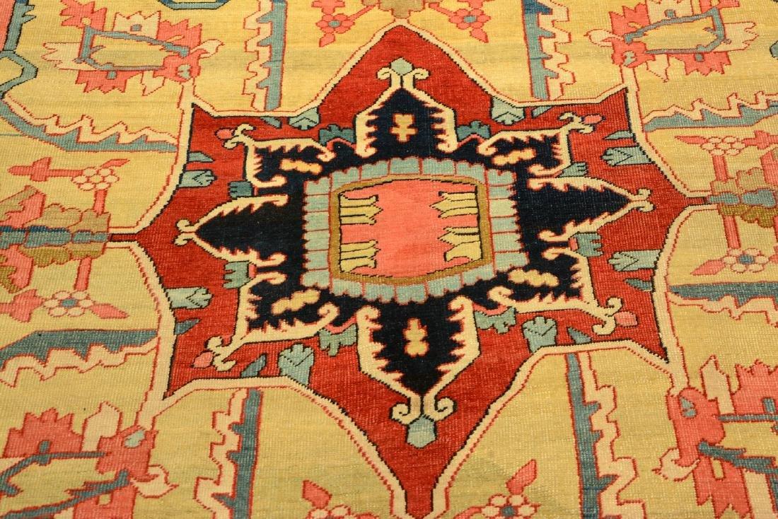 Large Fine & Unique Heriz 'Serapi' Carpet, - 10