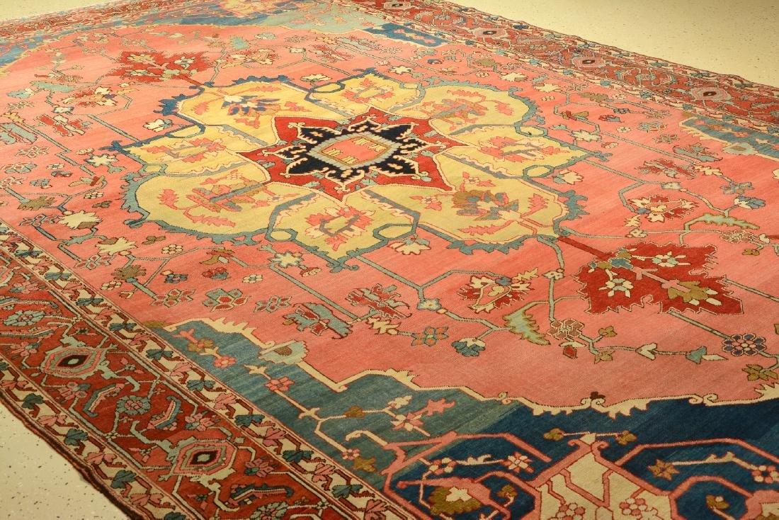 Large Fine & Unique Heriz 'Serapi' Carpet, - 2
