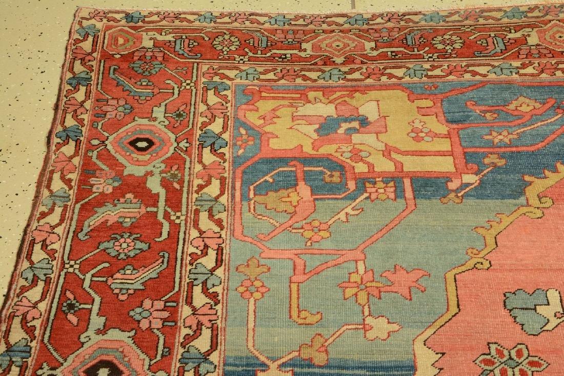 Large Fine & Unique Heriz 'Serapi' Carpet, - 3